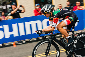 Kathryn Bertine - Bertine at the 2015 UCI Road World Championships