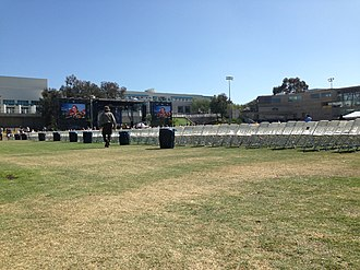 Eleanor Roosevelt College - RIMAC Field, where UCSD commencement ceremonies take place.