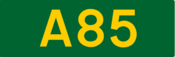 A85 road shield