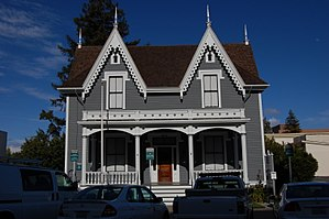 Lathrop House (Redwood City, California) - Image: USA Redwood City Benjamin Lathrop House 2
