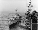 USS Buck (DD-761) refueling from USS Boxer (CVA-21) in January 1954.jpg
