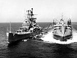 USS Chukawan (AO-100) refueling USS Boston (CAG-1) in the Med 1960.jpg