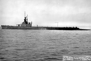 USS Gato (SS-212), off Mare Island, California, November 1944