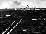 USS Hancock (CV-19) burning after kamikaze hit 1945.jpg