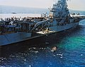 USS Kearsarge (CVS-33) recovers the Mercury-Atlas 8 capsule on 3 October 1962 (S62-09050).jpg
