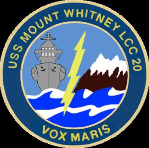 USS Mount Whitney (LCC-20) - Image: USS Mount Whitney LCC 20 Crest