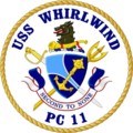USS Whirlwind PC-11 Crest.png
