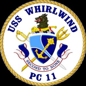 USS Whirlwind (PC-11) - Image: USS Whirlwind PC 11 Crest