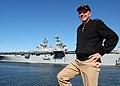 US Navy 041109-N-3725R-005 Commander, U.S. Second Fleet-NATO Striking Fleet Atlantic, Vice Adm. Mark P. Fitzgerald, views the water front aboard the Worlds largest Naval Base.jpg