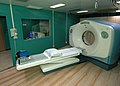 US Navy 060510-N-3532C-008 The Computerized Tomography (CT) scan machine aboard the Military Sealift Command hospital ship USNS Mercy (T-AH 19) uses x-rays and computers to create cross-sections of bodily tissues.jpg