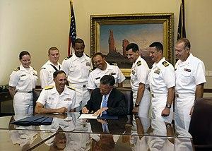 US Navy 070912-N-5208T-003 Utah Gov. Jon M. Hu...