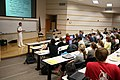 US Navy 080926-N-3271W-003 Lt. Andrew Baldwin, M.D., peaks to students at the University of South Carolina School of Medicine.jpg