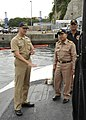 US Navy 100507-N-2218S-004 Cmdr. Lee Sisco, commanding officer of the Los Angeles-class attack submarine USS Louisville (SSN 724) explains submarine operations to Royal Thai Navy officers from the Royal Thai Navy frigate HTMS C.jpg