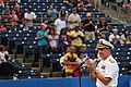 US Navy 100813-N-1688B-112 Rear Admiral Mark Boensel talks about the importance of serving in the military during the 2nd annual Navy Night at Harbor Park.jpg