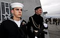 US Navy 100907-N-7638K-018 Yeoman 3rd Class Jeremy Tenney stands at attention alongside sailors from the Russian Armed Forces during a wreath layin.jpg