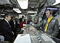 US Navy 111118-N-JO245-013 A Sailor gives a flight deck operations briefing to members of the Japan Ministry of Defense.jpg