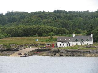 Ulva island in the Inner Hebrides of Scotland