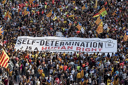Protest in Barcelona on 1 October 2018 Un any de l'1-O DC89725 (44160742095).jpg