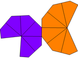 Unequal hexagonal trapezohedron net.png