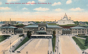 Union Station (Providence) - A postcard image of Union Station
