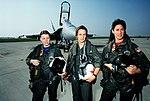 United States Navy F-18 Hornet Female Fighter Pilots at Lemoore Naval Air Station 1992 (DN-ST-93-03420).jpg