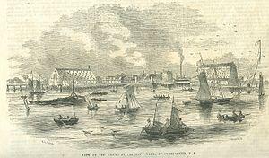 Portsmouth Naval Shipyard - Shipyard in 1853