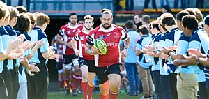 Canberra Vikings - The Vikings led by captain Fotu Auelua in 2014