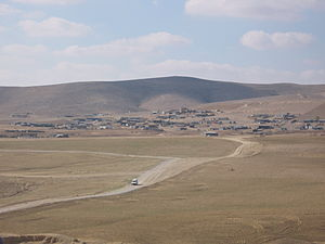 Unrecognized Bedouin villages in Israel - General view of one of the Unrecognized Bedouin villages in the Negev Desert of Israel, January 2008