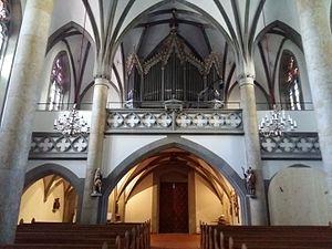 Vaduz Cathedral - Image: Vaduz Cathedral interiors II