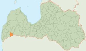 Vaiņode Municipality - Image: Vaiņodes novada karte
