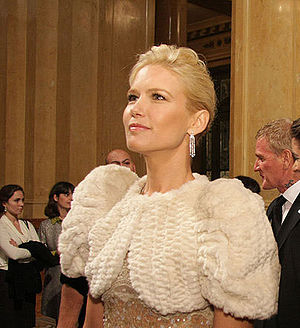 Valeria Mazza - Mazza at the Teatro Colón reopening gala, 2010