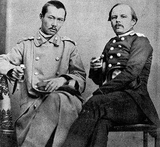 Shoqan Walikhanov - Shoqan Walikhanov and Fyodor Dostoyevsky