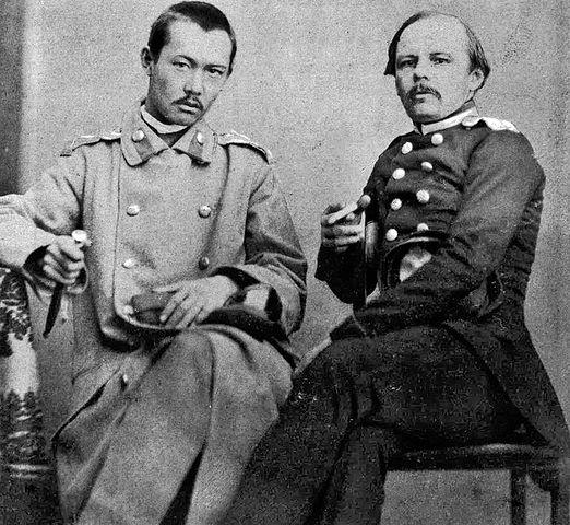 Достоевский и Ч. Валиханов. Фотография снята в Семипалатинске в 1858г.