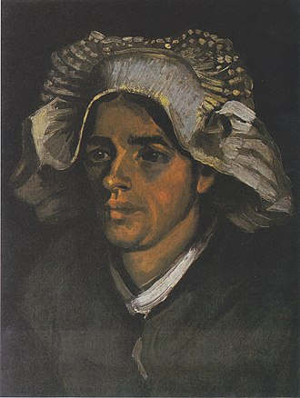 Seine (Van Gogh series) - Head of a Peasant Woman with White Cap, 1885, National Gallery of Scotland, Edinburgh (F140)