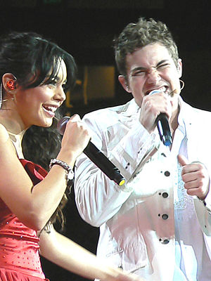 Drew Seeley - Drew Seeley performing with Vanessa Hudgens.