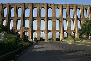 Aqueduct (bridge) - Aqueduct of Vanvitelli, Italy, built by Luigi Vanvitelli. It is a World Heritage Site and one of the finest examples of an aqueduct in Europe.