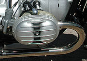 Pre-1970 valve cover on an R60/2