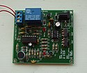 A photo of a Velleman clap on/off switch electronic project printed circuit board