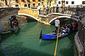 """Venice city scenes - gondoliers rule the """"streets"""" - even here there are traffic jams (11002346653).jpg"""
