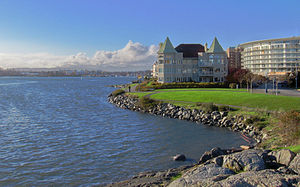Victoria, British Columbia - Victoria's Harbour with Songhees condominiums in the background