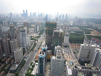 Huaqiangbei - Image: View on AVIC Plaza construction site (245m 68fl)