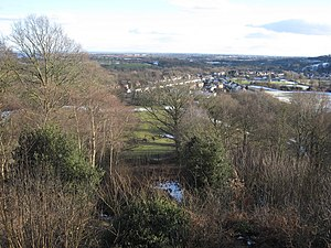Abermorddu - Image: View towards Wrexham from Caergwrle Castle geograph.org.uk 1722002