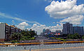 View west along Sungang East Road from the Renmin North Road overpass, Shenzhen, China.jpg