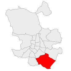 Villa de Vallecas District loc-map.svg