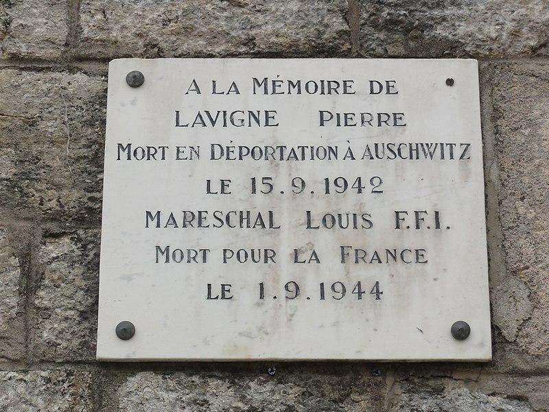 Ville-sur-Cousances (Meuse) plaque mémorial de guerre