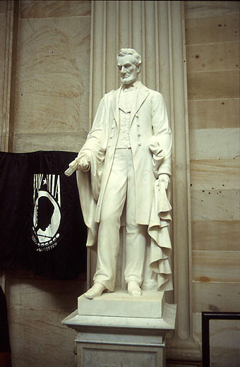 Abraham Lincoln (1871, marble) by Vinnie Ream Vinnie Ream - Lincoln.jpg
