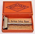 Vintage Burham Single Edge Safety Razor, Made In USA, Patent Date - July 6, 1909 (40153166090).jpg