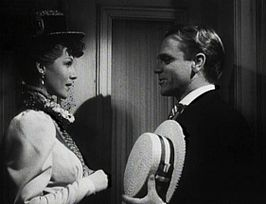 Rita Hayworth en James Cagney in The Strawberry Blonde