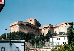 Fortezza Medicea restaurant - The medieval fortress and prison which houses the restaurant.