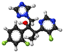 Voriconazole ball-and-stick model.png